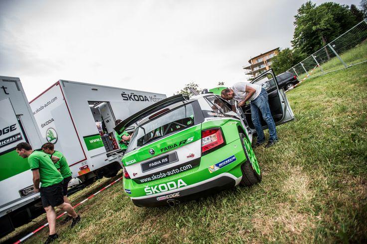 Pit stop by ŠKODA Motorsport on Wörthersee. #skoda #R5