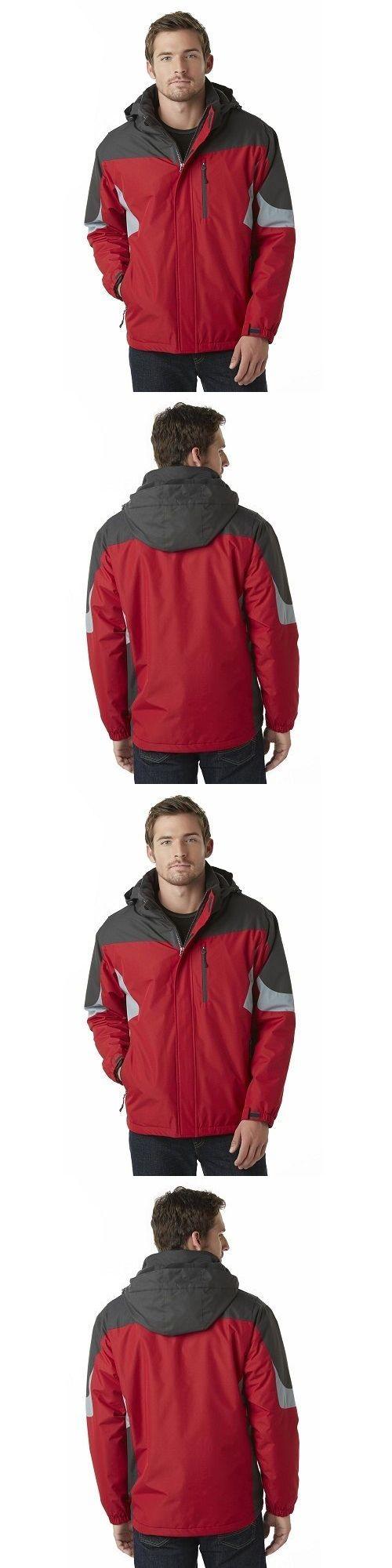 Men Coats And Jackets: Mens Fleece Lining Jacket Coat Snowboard Hooded Winter Snow Warm Zip Size New BUY IT NOW ONLY: $48.95