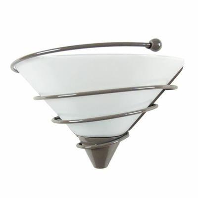 Applique murale en verre SPIRALITO Taupe E27 40W - Achat / Vente Applique FLEX Marron G9 50W Gris, taupe et blanc Structure : métal-Abat-jour : verre - Cdiscount