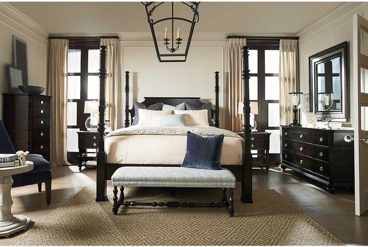 Etchings bed peppercorn finish drexel heritage - Drexel heritage bedroom furniture for sale ...