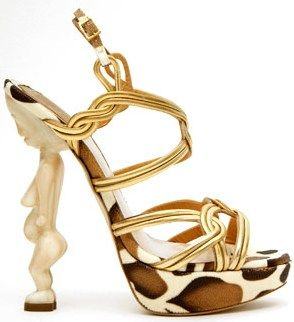 Just say no to fertility fetishes as heels.  [Christian Dior] - Find 150+ Top Online Shoe Stores via http://AmericasMall.com/categories/shoes.html