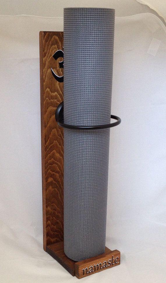 Yoga Mat Holder Handmade Wood Sign Art For By YogaWares