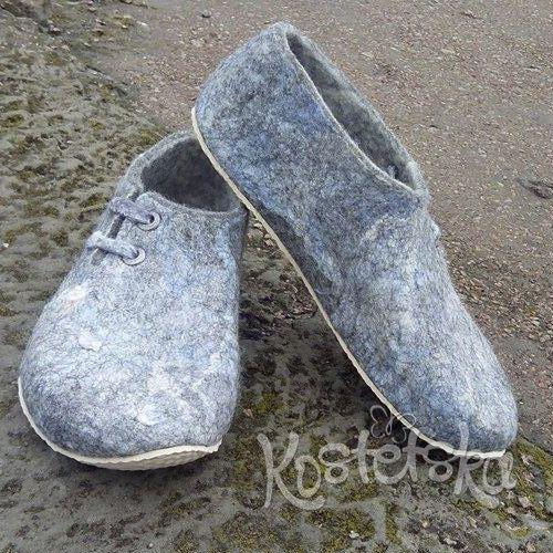 Тапочки валяные Felt boots, wool boots, valenki, валенки, валяные ботинки, войлочные ботинки, сапоги. Обучение валянию обуви. Валентина Костецкая купить
