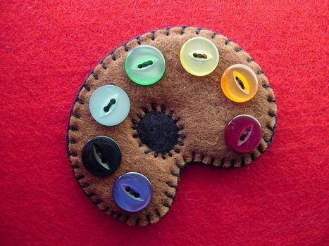Completed Project: Artists Palette Brooch Picture #1