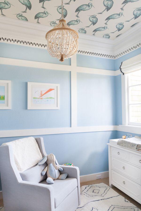 Sweet blue nursery: http://www.stylemepretty.com/living/2016/01/03/sweet-blue-san-francisco-nursery-from-homepolish/ | Photography: Homepolish