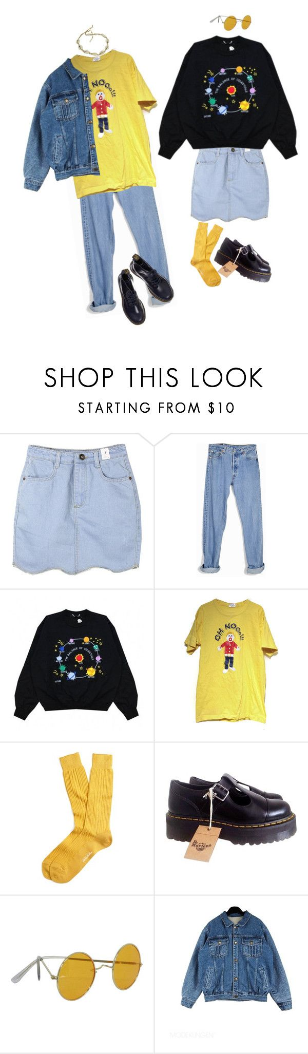 """""""We're together"""" by linneminne ❤ liked on Polyvore featuring Levi's, Brooks Brothers and Dr. Martens"""