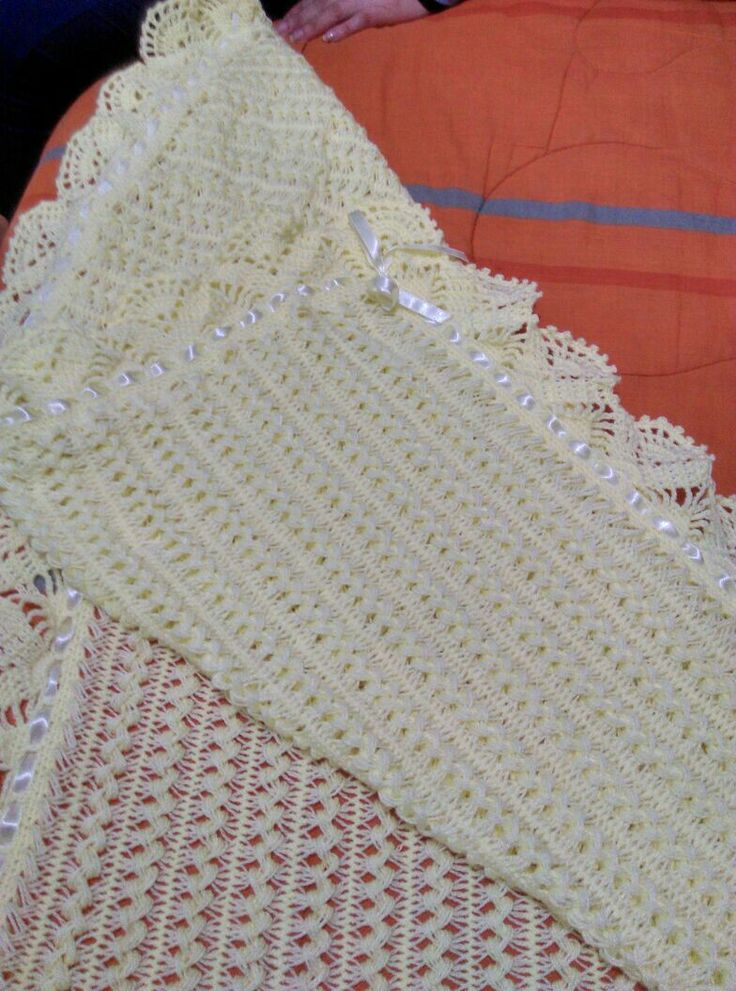Chal horquilla con guarda a crochet
