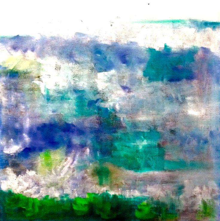 Beach, Oil on Canvas, 40 x 40