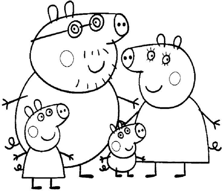 ausmalbilder peppa wutz zum ausdrucken  peppa pig familie