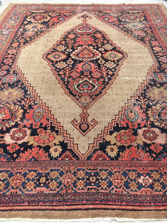 Sometimes We Get Rugs That Are Just Dreamy And A Show Stopper This Is One Of Them This Is An Antique Hand Knotted Persian Rugs Vintage Persian Rug Antiques