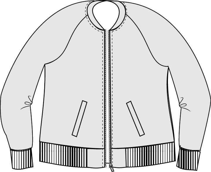 Midway Bomber Jacket PDF Sewing Pattern XXS to 3XL