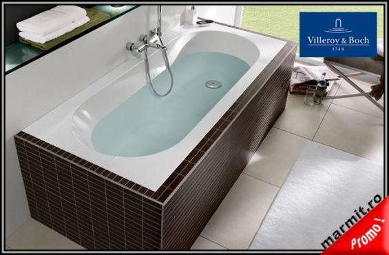 Cada de baie Oberon - Villeroy&Boch din Quaryl, obiecte sanitare, cazi de baie, cazi compozit, cazi otel, cazi acril, cabine de dus, lavoare baie, lavoare compozit, chiuvete baie, mobilier baie, chiuvete bucatarie, vase wc, wc suspendat, bideuri suspendate, baterii baie, robineti baie, baterii bucatarie
