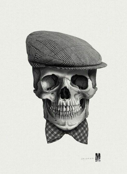 Well dressed skull