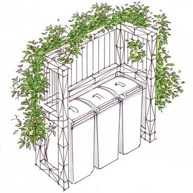 Rankpflanzen auf Stahl-Pergola