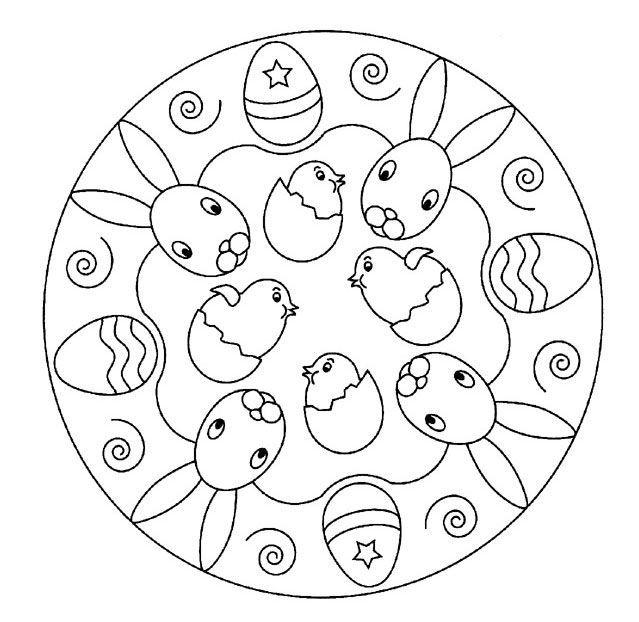 mandalas  mandalas  ausmalbilder ostern mandala