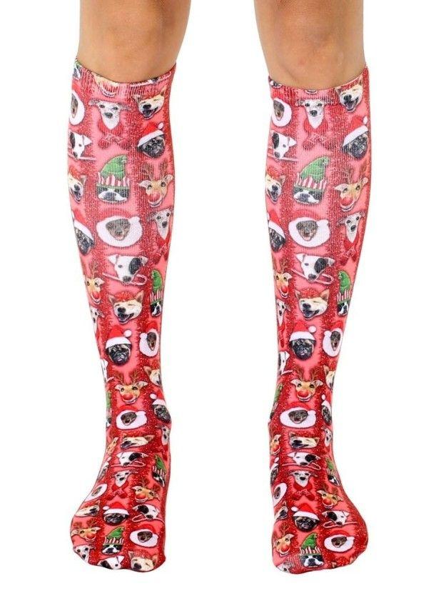 Knee-High Christmas-Themed Dog Socks | 12 Wacky Socks For The Christmas Enthusiast