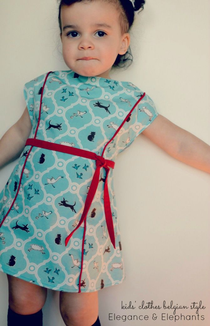 StraightGrain. A blog about sewing: Kids' Clothes Belgian Style week 5: Elegance and Elephants  pdf $9.00