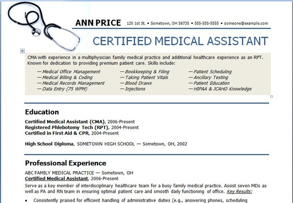 Art Medical Assistant Resume Template resume-templates