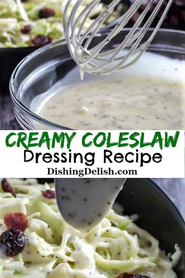 Creamy Coleslaw Dressing Recipe is a tangy, crunchy and sweet dressing that will be the new family favorite.  #coleslaw #creamycoleslaw #dressings #gluten_free #celiac  #Glutenfreerecipes #saladdressings  #summerrecipes