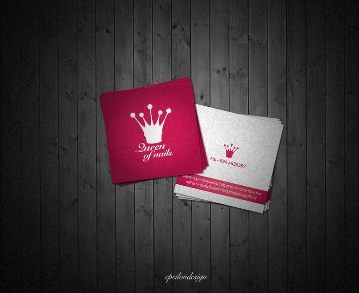 Cartões de visitas criativos para manicures - Assuntos Criativos