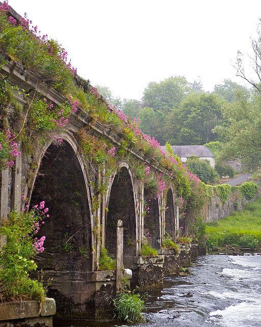 Inistioge Bridge in County Kilkenny, Ireland