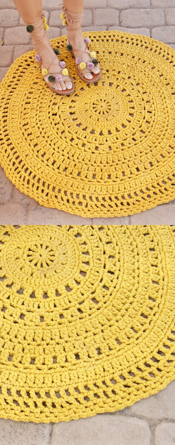 Free Crochet Pattern for a Round Carpet Rug