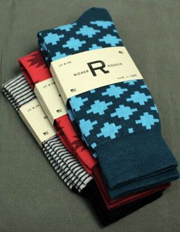 Colorful & Pattern Socks for the Groom- Blue, Red, Black & White