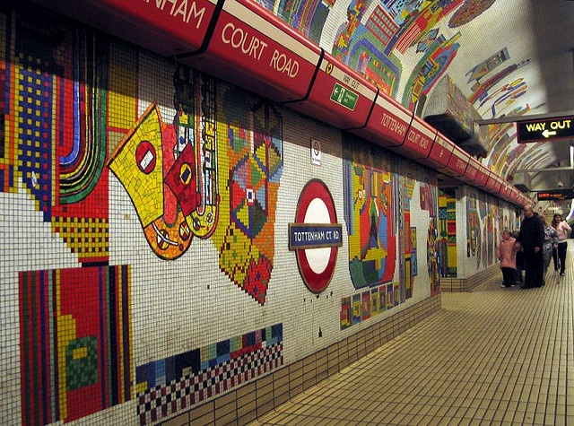 Eduardo Paolozzi's Tottenham Court Road Tube Station – east-bound, central line. #art, #travel, #places