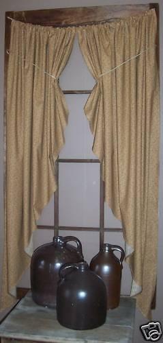 17 Best images about Primitive Curtains on Pinterest | Drop cloth ...
