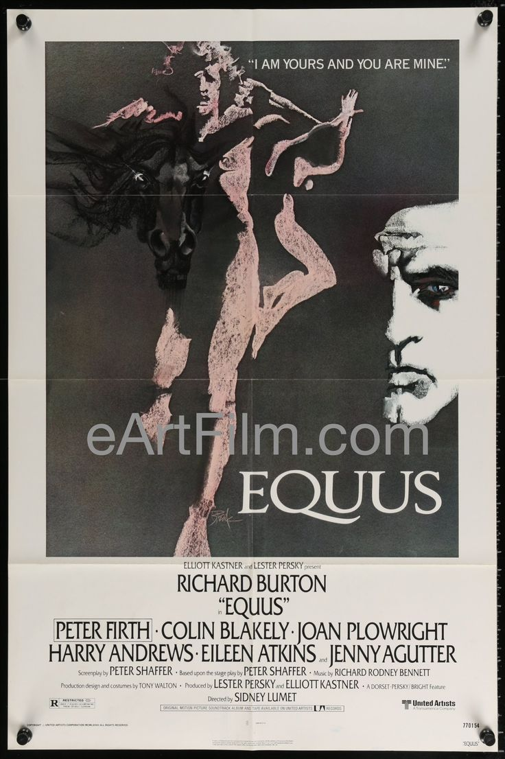 July 26 1973 #Equus premieres in #London #PeterShaffer https://eartfilm.com/products/equus-sidney-lumet-richard-burton-peter-firth-colin-blakely-1977-27x41 #theater #theatre #WestEnd #playwright #NationalTheatre #film    Equus-Sidney Lumet-Richard Burton-Peter Firth-Colin Blakely-1977-27x41