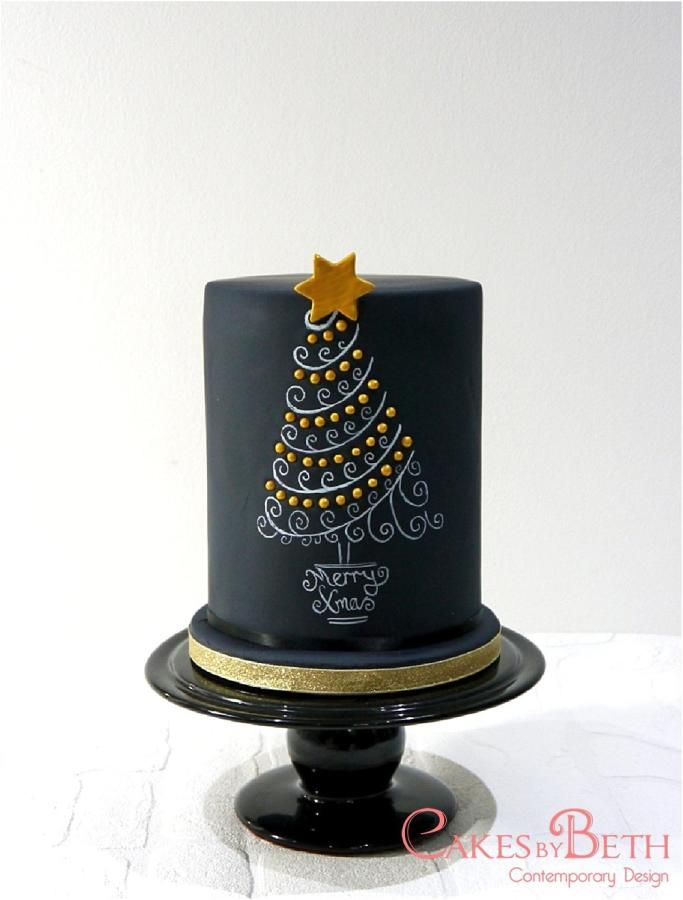 Chalkboard Christmas Tree - Cake by Beth Mottershead