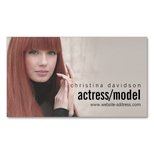 photo card for actors models business card