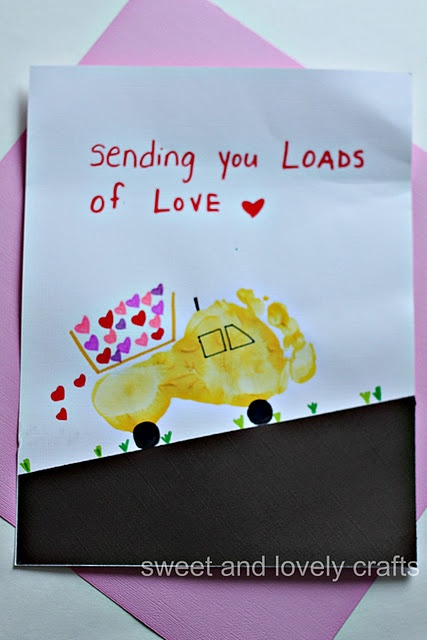 Might do this for a cute and cheap Valentine's card for Grandma and Papa!