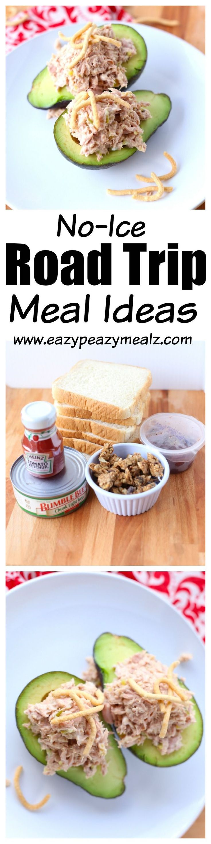 Road trip meals that do not require ice: tasty meals that save money, time, and hassle because they don't require ice and can be made on the road! #ad - Eazy Peazy Mealz