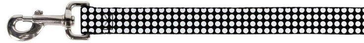 Mini White Polka Dots on Black Fun Animal Pet Dog Cat Leash #BuckleDown  200 each for the male dogs