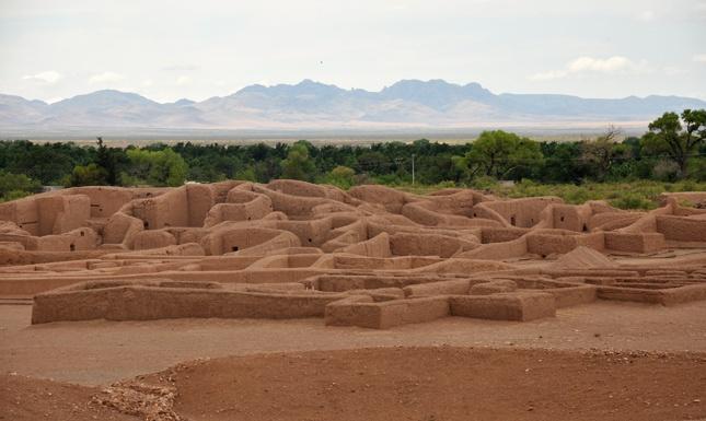 Paquime ruins by Casas Grandes in Mexico.    Memories.
