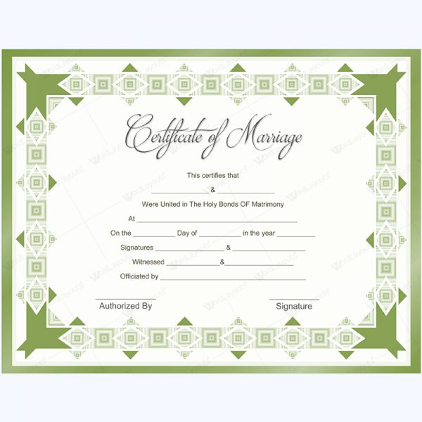 56 best Marriage Certificate Templates images on Pinterest - life membership certificate template