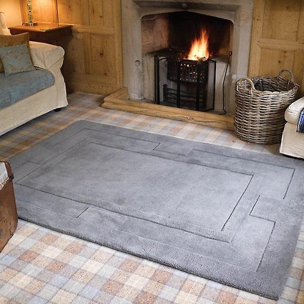Apollo grå rektangel mattor Plain/nästan slätt mattor