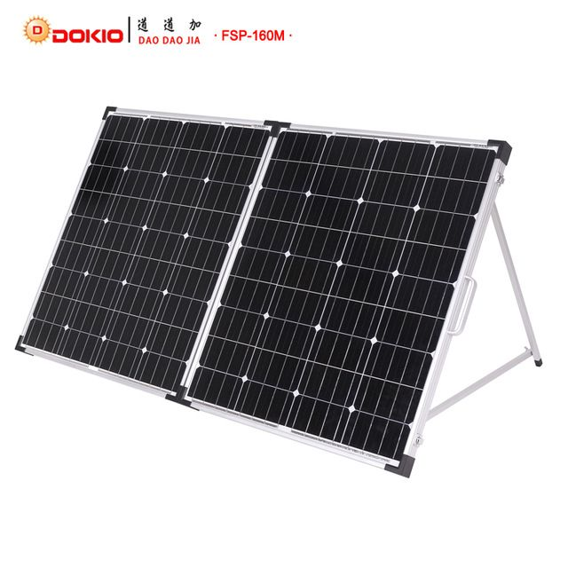 Dokio Brand 160w 2pcs X 80w Foldable Solar Panel China 18v 10a 12v 24v Controller Panel Solar Easy To Carry Cell System C Solar Panels Solar Best Solar Panels