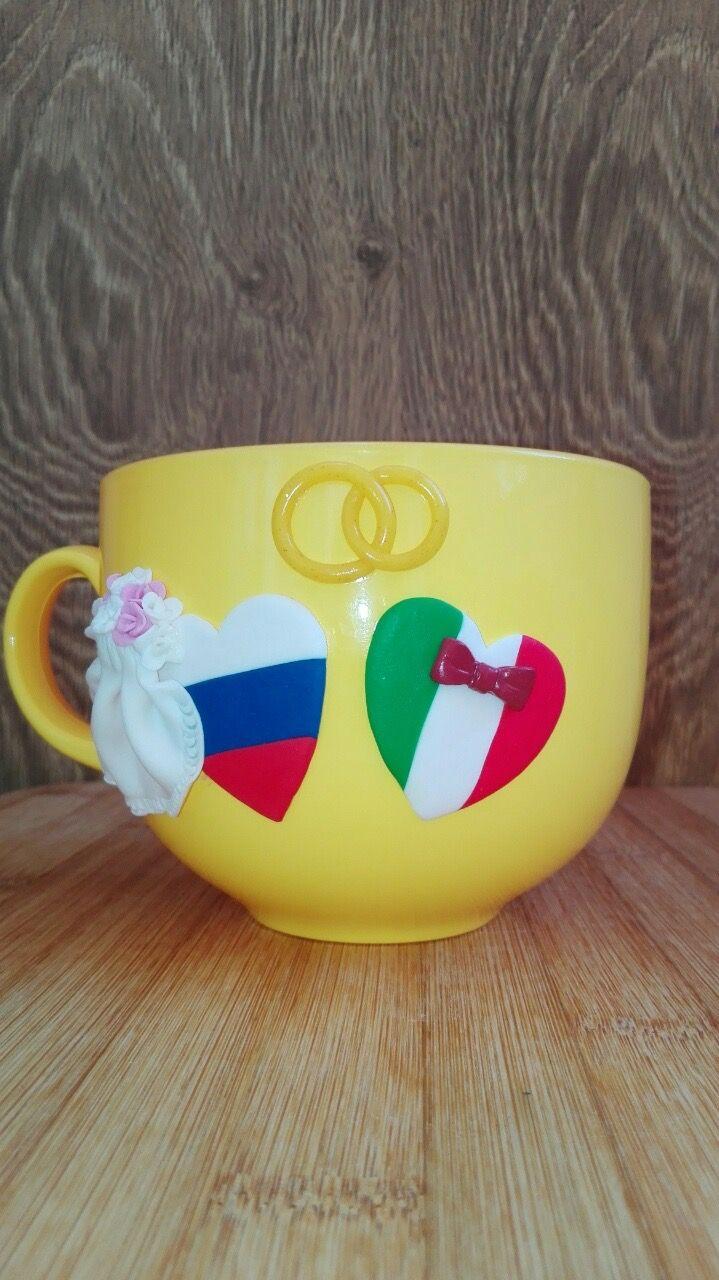 #Cup #handmade #cups #tea #чай #кружка #кружки #полимернаяглина #polimerclay #giftidea #gifts #подарок #подарки #сувенир  #свадьба #италия #россия