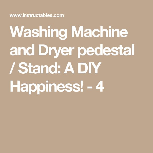 washing machine dryer stand