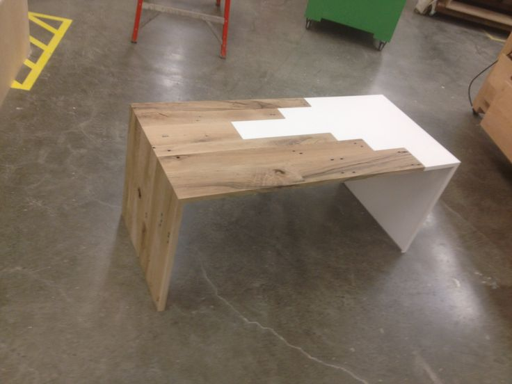 Reclaimed White Oak Corian Coffee Table Built Before Paradise Pinterest White Coffee