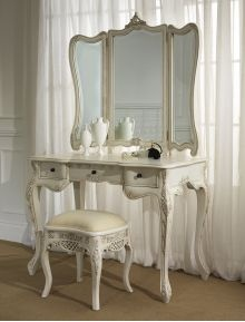 La Rochelle Antique French Dressing Table (Large) Set