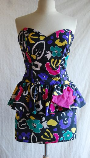 Made By Meg: 80s Prom Dress