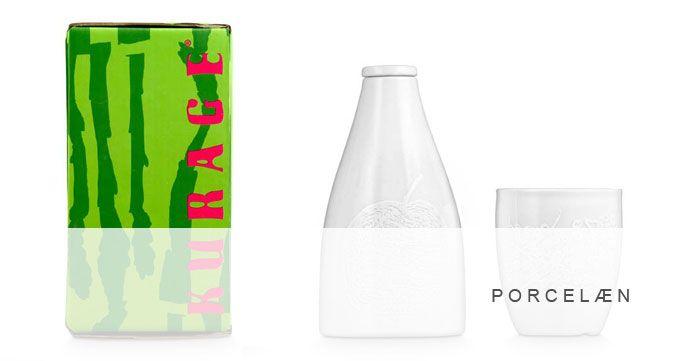 Porcelæn. Skåle, tallerkener, thermokrus, fade, flasker i forskellige designs. http://shop.kurage.dk/kokken-spisestue/porcelaen.html