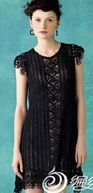 Crochet black dress ♥️LCD-MRS♥️with diagrams. ---- Вязание кружевного платья