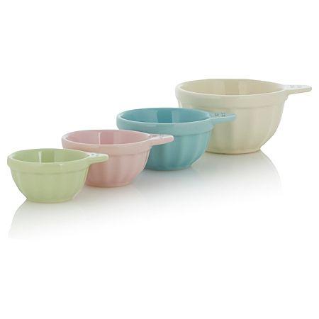 George Home 4 Piece Ceramic Measuring Cups Cupcake Kitchen Pinterest Me