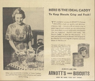Arnotts biscuits advertisement, 1934