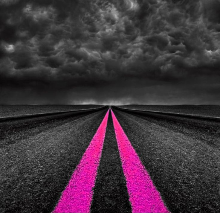 On the pink highway! Color Splash ~ by Ladee Pink | Roads ...