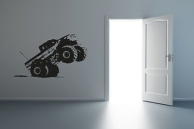 Wall Mural Vinyl Decal Sticker CARS Car Monster track R009
